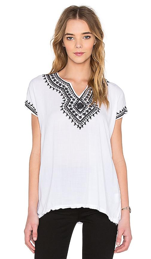 NSF Quinne Top in White & Black