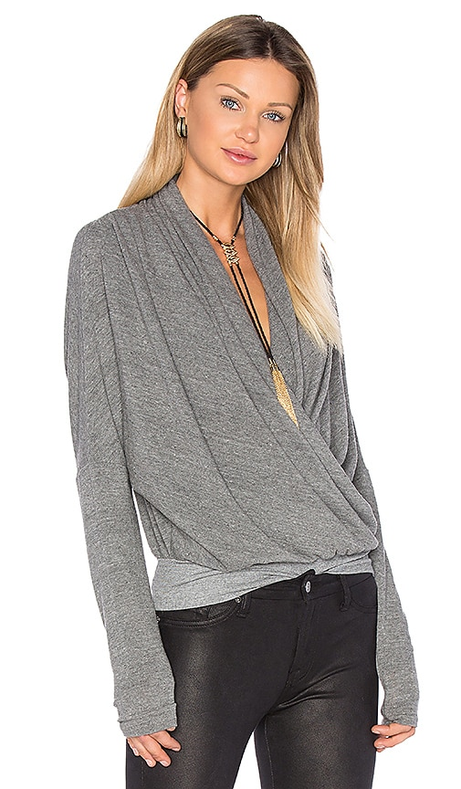 NSF Maje Long Sleeve Top in Gray