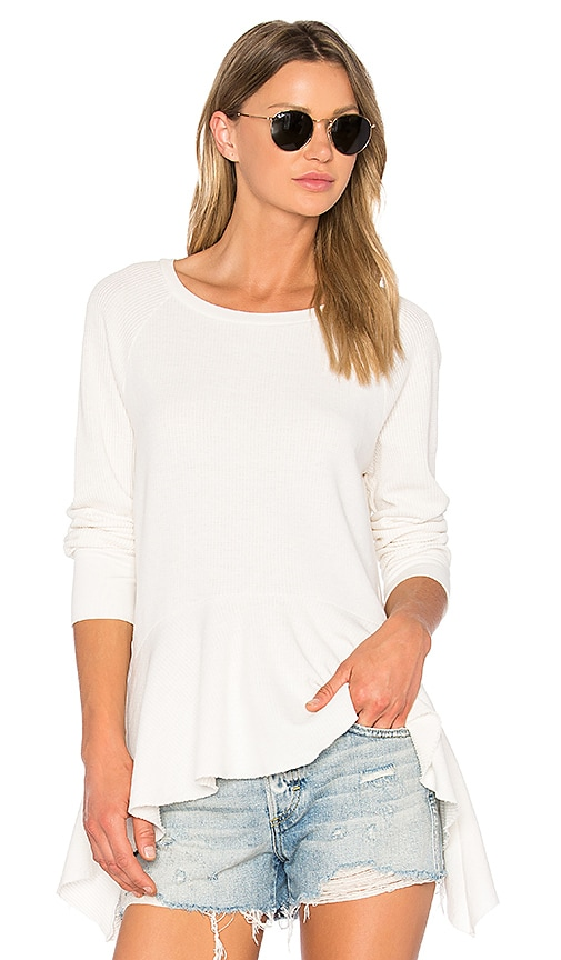 NSF Gemma Long Sleeve Top in White
