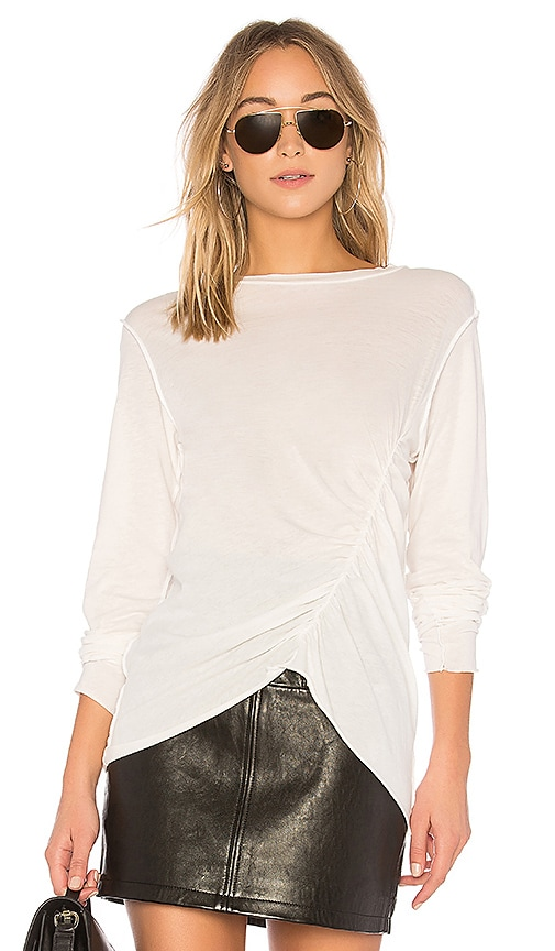 NSF Mancuso Ruched Top in White