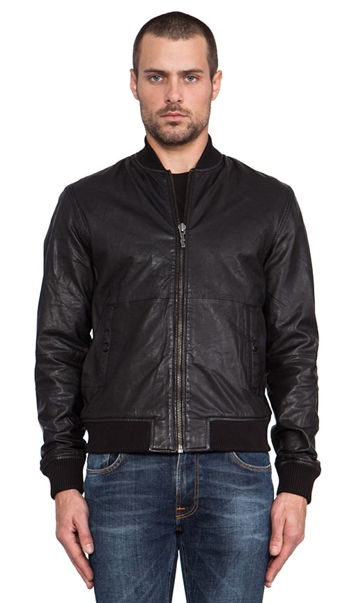 Cedric Bomber Leather Jacket