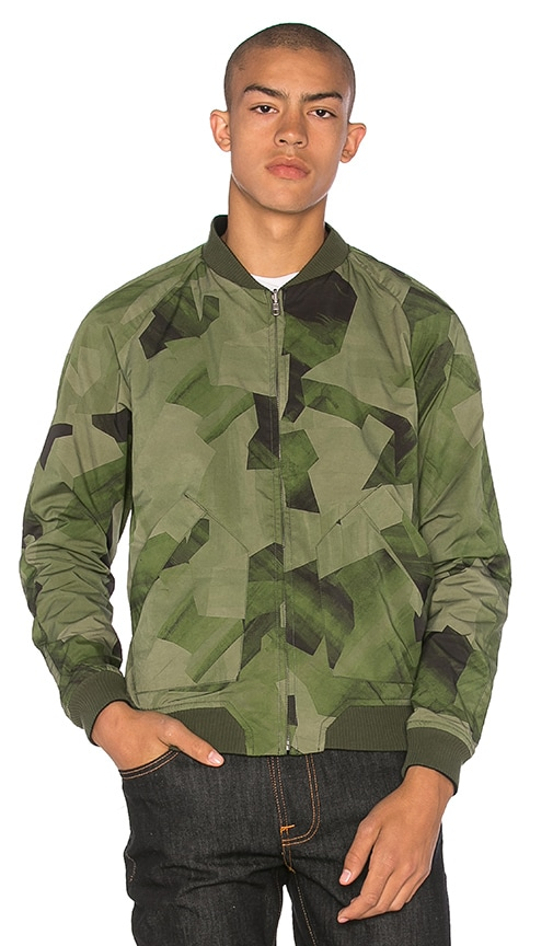Nudie Jeans Brook Jacket in Black and Camo Black