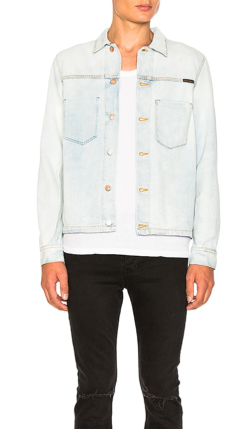 Nudie Jeans Ronny Crispy Ocean Jacket in Denim