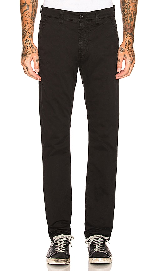 Nudie Jeans Slim Adam Pant in Black