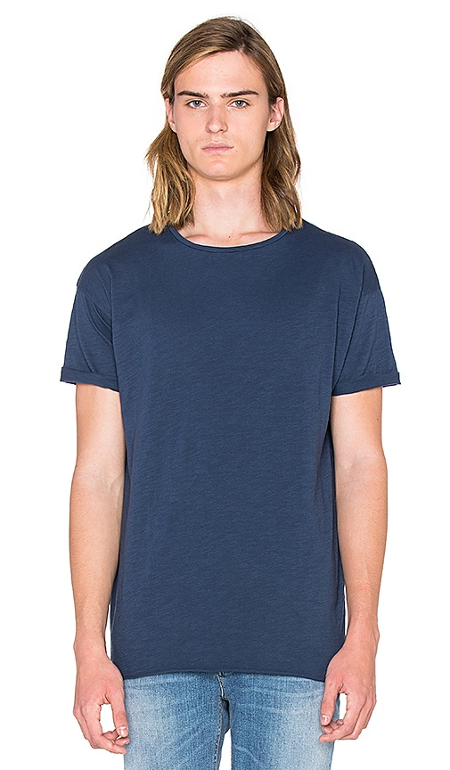 Nudie Jeans Slub T Shirt in Blue