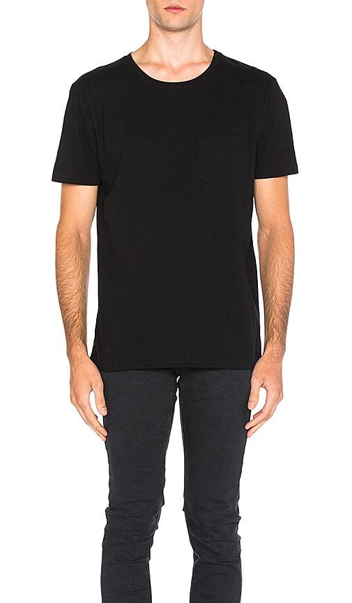 Nudie Jeans Ove Pocket Tee in Black