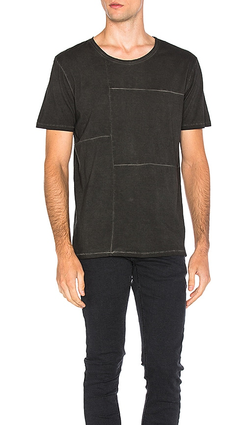 Nudie Jeans Patch Tee in Charcoal