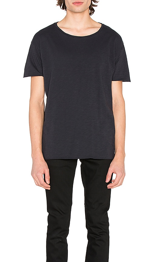 Nudie Jeans Roger Slub Tee in Navy