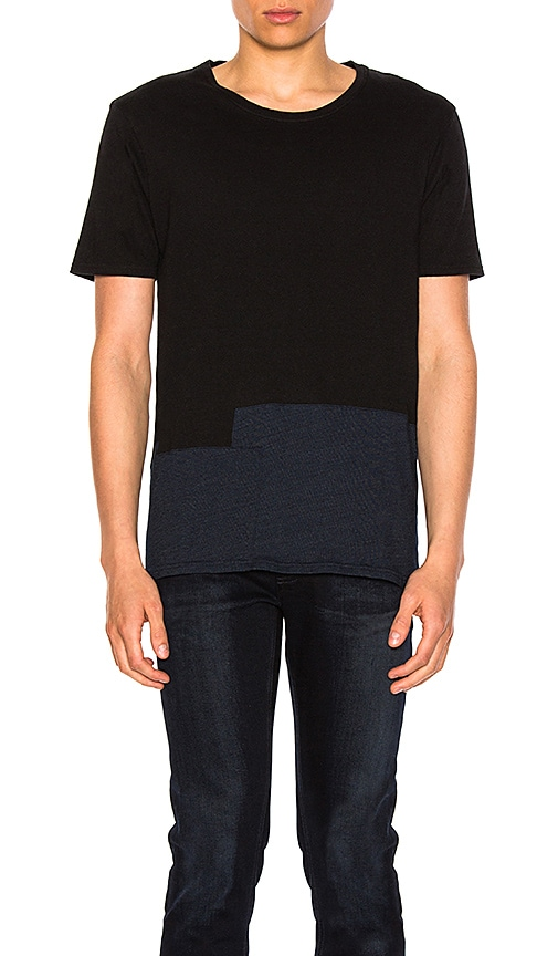 Nudie Jeans Ove Patched Tee in Black