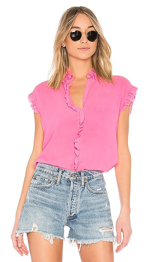 Nude Ruffle Sleeve Top in Pink