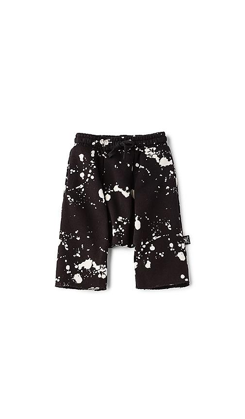 Nununu Splash Harem Shorts in Black