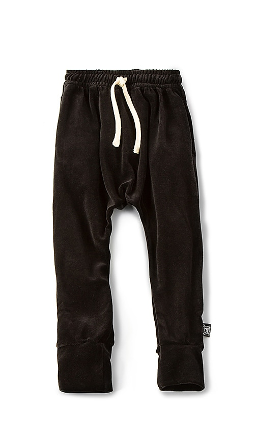 Nununu Velvet Baggy Pant in Black