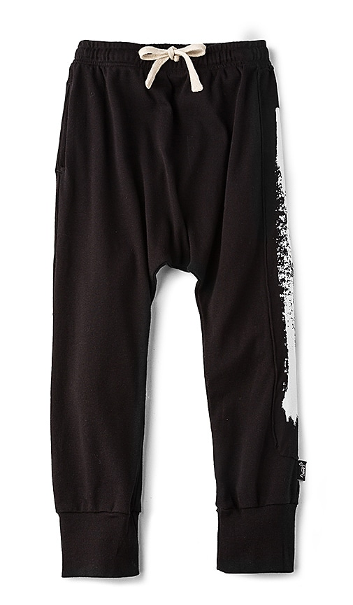 Nununu Brush Stroke Baggy Pants in Black