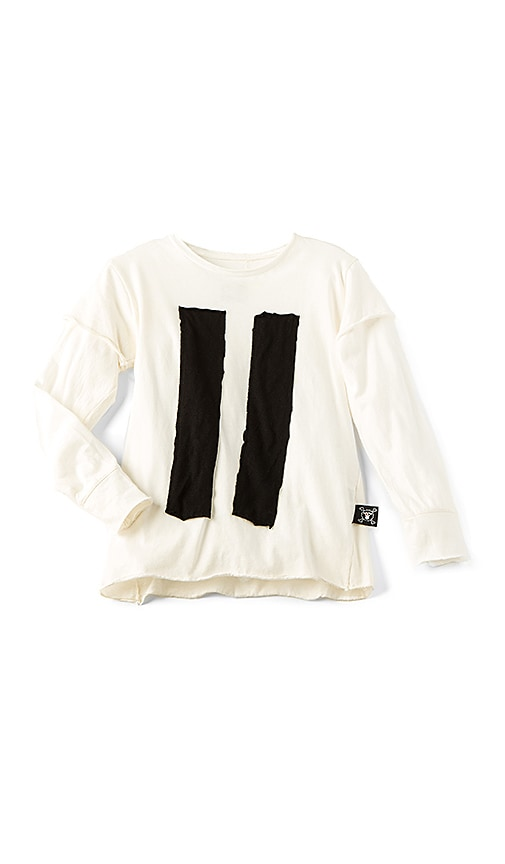 Nununu Striped Patch Tee in White