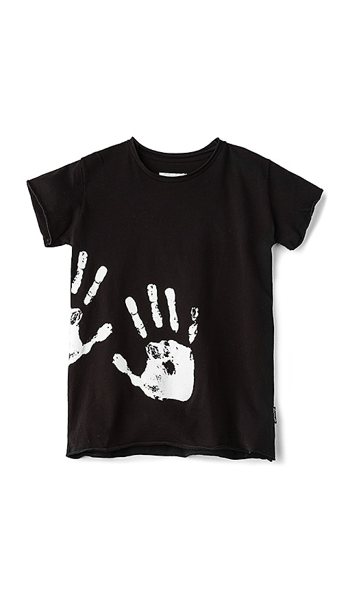 Nununu Hand Print Tee in Black