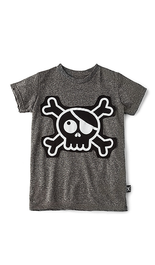 Nununu Skull Patch Tee in Gray