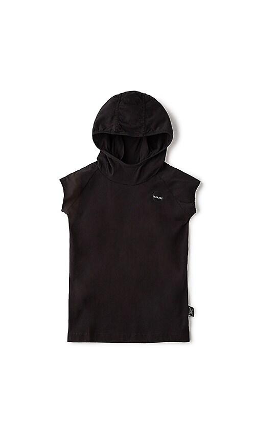 Nununu Hooded Ninja Shirt in Black