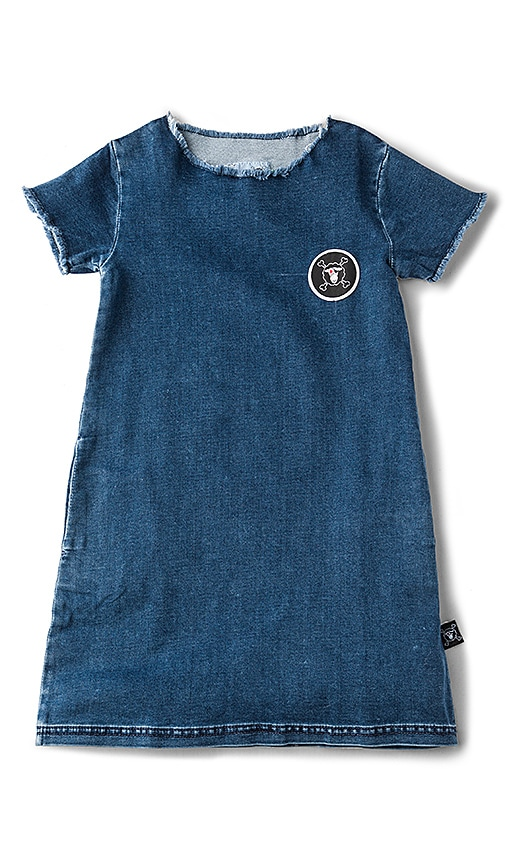 Nununu Denim A Dress in Blue