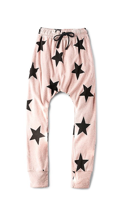 Nununu Star Baggy Pants in Pink