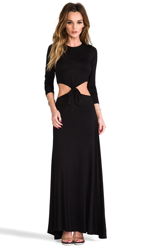 Casuals Long Sleeve Knotted Maxi Dress