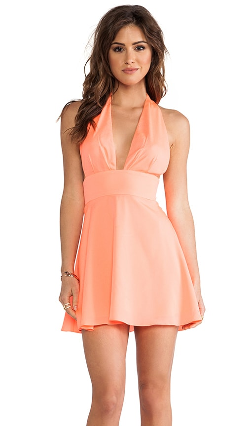 Deep V Circle Mini Dress