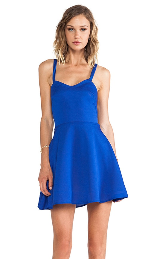 Crossed Circle Mini Dress