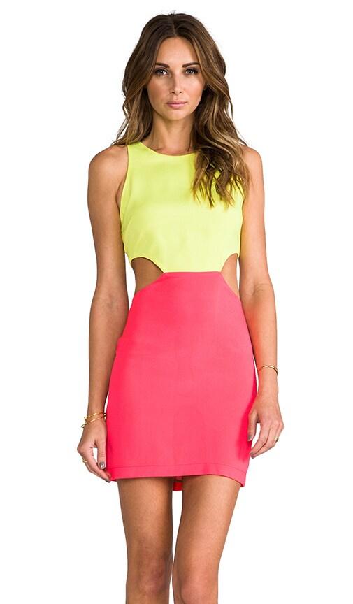 2 Tone Cutout Dress