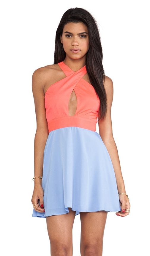2 Tone Criss Cross Vixen Dress