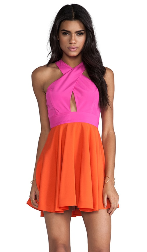 EXCLUSIVE Two-Tone Criss Cross Vixen Dress