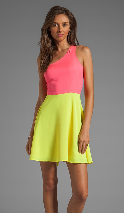 Neon Collection Asymmetric Swing Dress