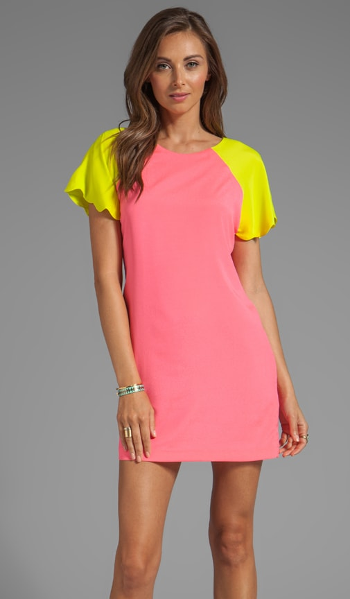 Neon Collection Scalloped Dress