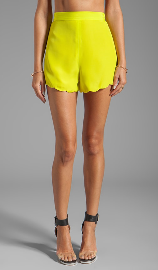 Neon Collection Scalloped Short