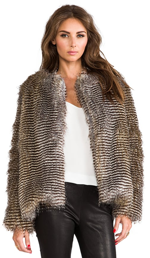 Puffer Faux Fur Jacket