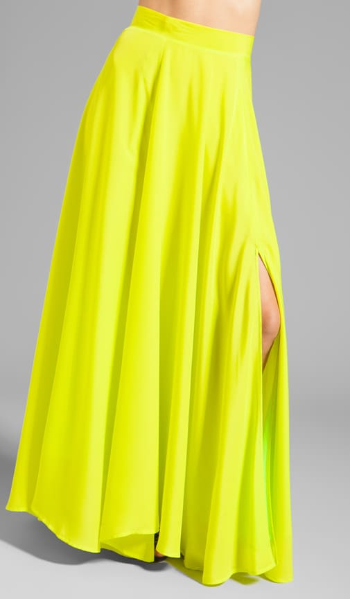 Designer Slit Maxi Skirt