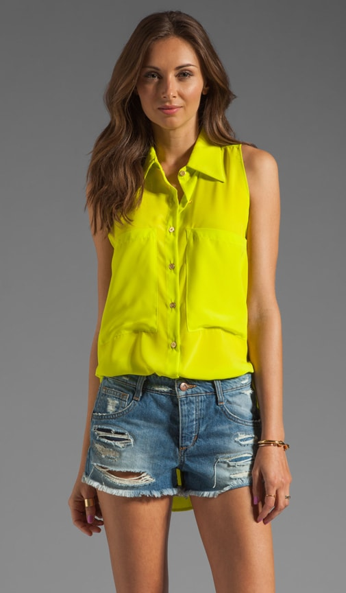 Sleeveless Bardot Blouse