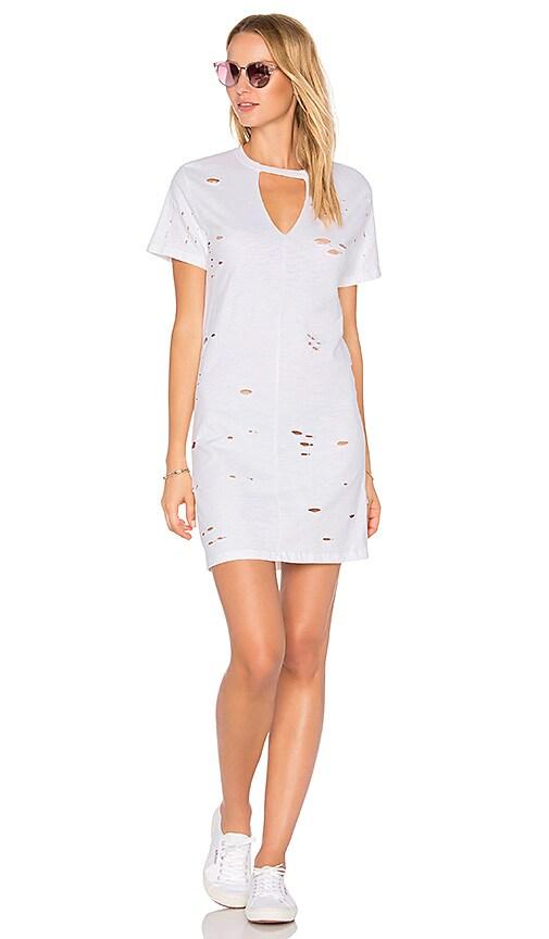 NYTT Distressed Dress in White