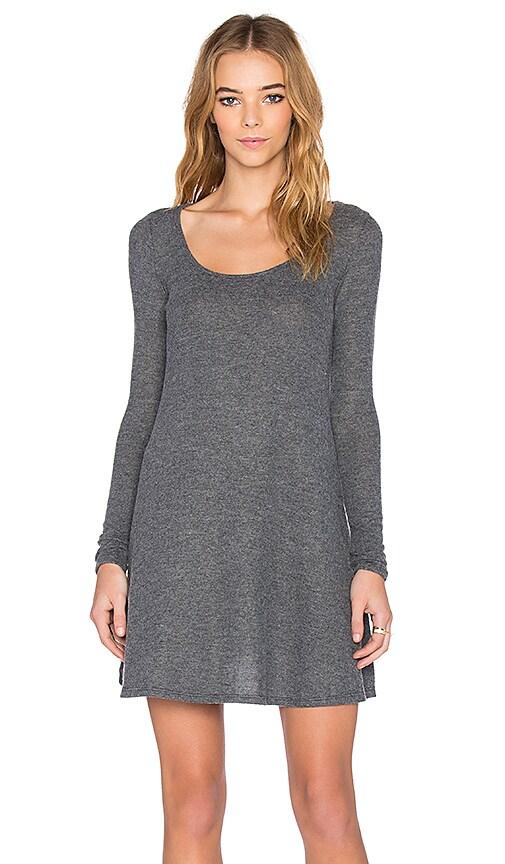NYTT Lisa Hacci Long Sleeve Swing Dress in Charcoal Grey