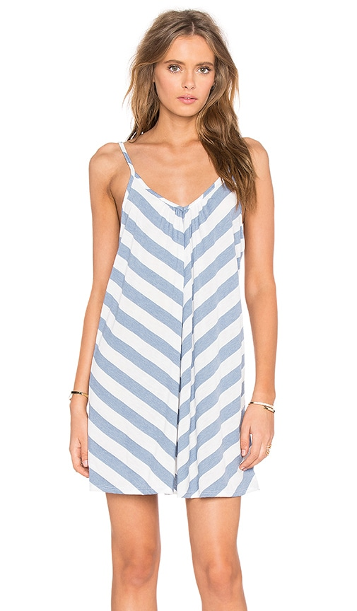 NYTT Gemma Dress in Powder Blue Stripe