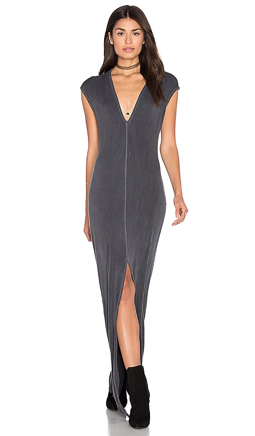 NYTT Mavi Front Slit Maxi Dress in Gray