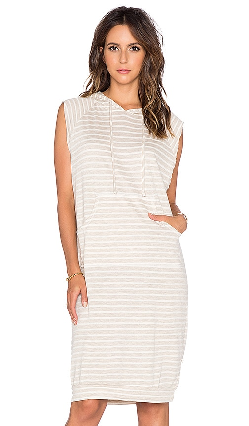 NYTT Hooded Tank Dress in Bone Stripe