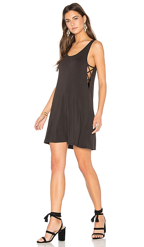 NYTT Lace Up Dress in Black