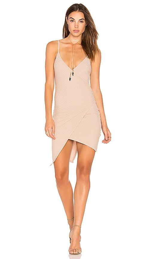 NYTT Cami Wrap Dress in Tan