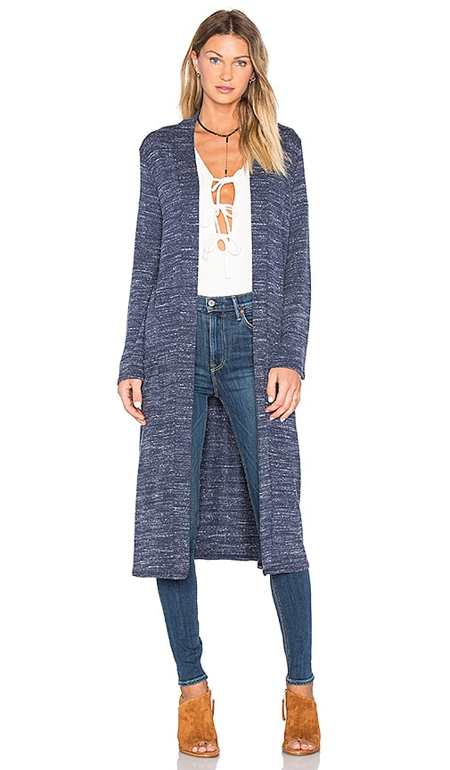 NYTT Longline Cardigan in Blue