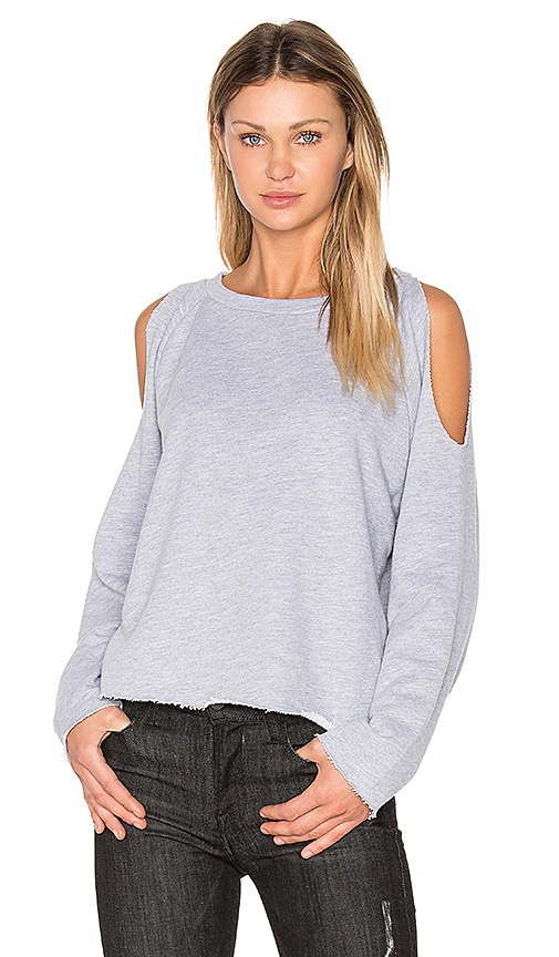 NYTT Cold Shoulder Sweatshirt in Grey