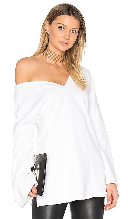 NYTT Double V Sweatshirt in White