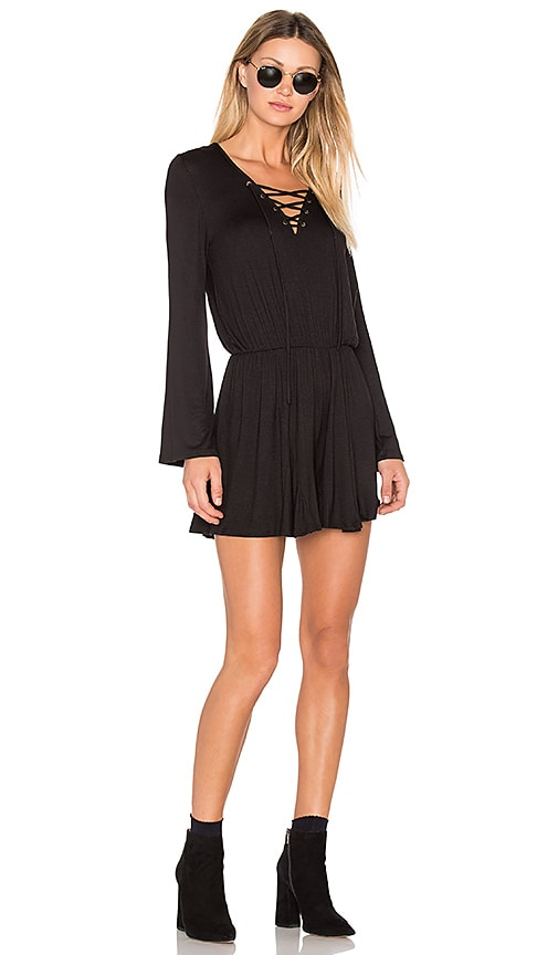 NYTT Lace Up Romper in Black