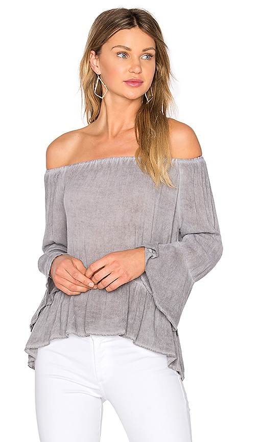 NYTT Ruffle Top in Gray