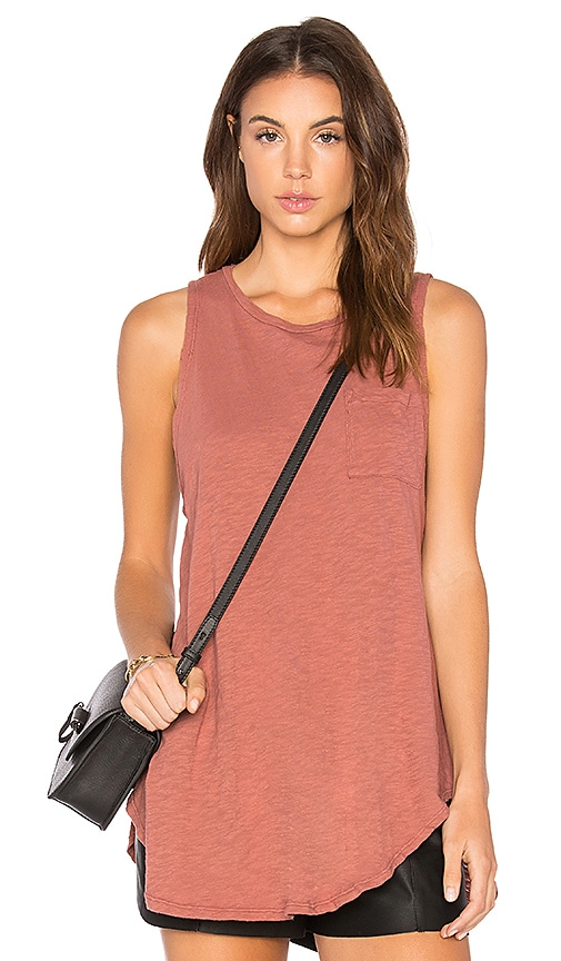 NYTT Slub Muscle Tank in Rust