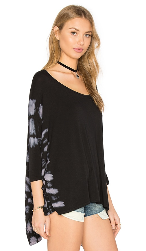 NYTT Kala Top in Black & Rusty & Off White