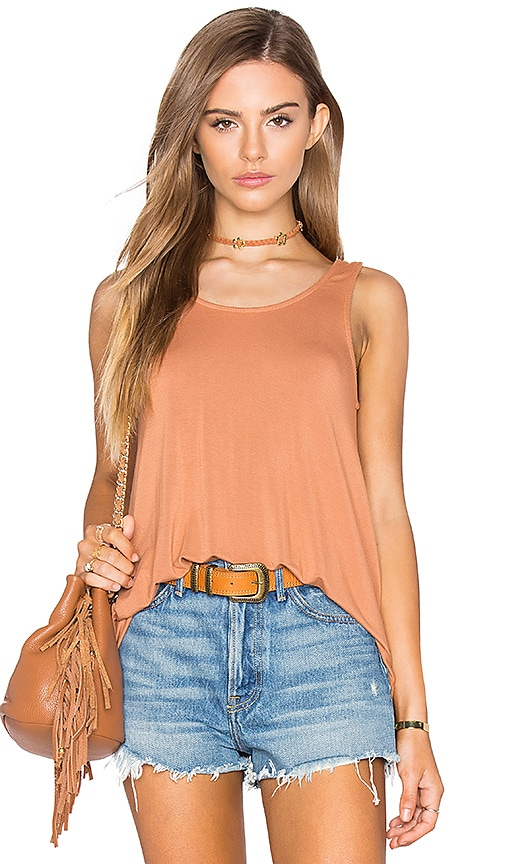 NYTT Laken Tank in Burnt Orange